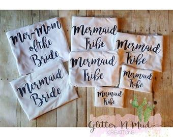 Bride, Bridesmaid, Made of Honor, Flower girl shirts