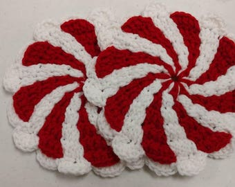 1 set of 2 Peppermint pot holders!