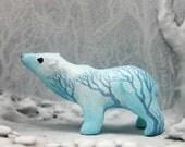 Polar Bear Figurine Animal Totem Moon Wanderer Fantasy Sculpture
