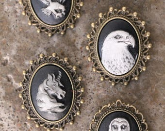Cameo pin-- Animals --your choice of 4 variations