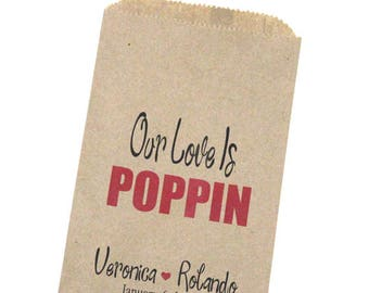 Popcorn Wedding Candy Favor Bags, Candy Buffet Bags, Popcorn Bags, Candy Bags, Wedding Favors