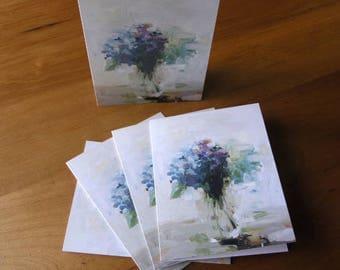 Blue Hydrangea I Single A2 Card