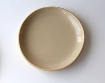 deep plate in black ceramic, handmade