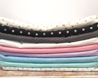 Doll Mattress, Dot Print Mattresses, 18 Inch Doll Mattress, Doll Bedding, 19 Inch by 9 Inch Mattresses, Multiple Colors with Dots