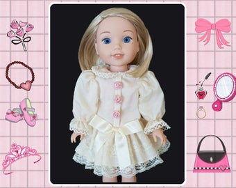 14 inch doll clothes / 14 in doll dress / Mine to Love 14 / Wellie Wishers / Melissa and Doug / American Girl