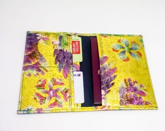 African Print passport holder, Leather wallet, Fabric Passport Wallet, Passport cover, Cash Wallet, Credit Card Wallet, Limited Editions