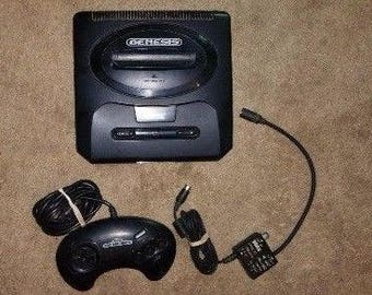 Lot Of 3 Sega Genesis Consoles + 4 Controllers and 2 RF Connectors *All Pwr On*