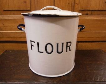 Enamel Flour Bin - Vintage
