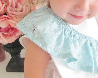 Ruffle baby bib /Fashion bib / Girl bib