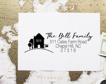 Personalized Address Stamp, Custom Return Address Stamp, Rubber Stamp Address, Self Inking Stamp - CA727