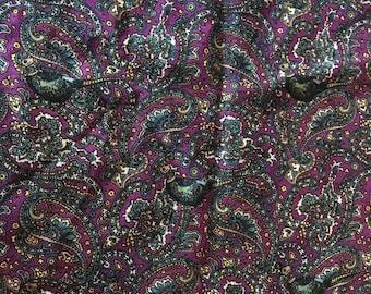 Vintage Scarf Liberty Paisley Varuna Wool Purples 1970s