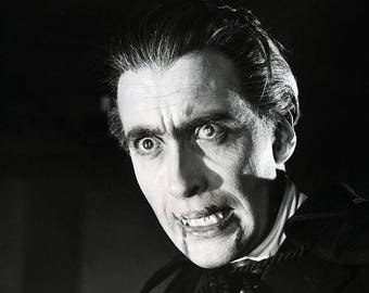 Christopher Lee in the title role in the 1958 movie House of Dracula,