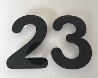 Rounded Font, Floating Finish, House/Shop/office Names and Numbers with fixings - Several Colours and Sizes