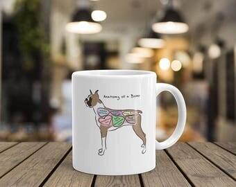 Anatomy of a Boxer - Funny Boxer Dog Coffee Mug