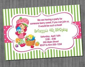 ON SALE Strawberry Shortcake Invitation