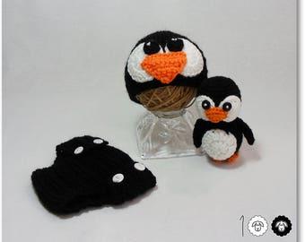 Christmas baby prop Winter baby prop Penguin costume Penguin prop Animal prop Crochet penguin prop Newborn Prop photo prop Penguin hat