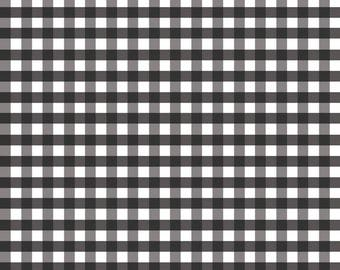 Black Gingham by Riley Blake Designs, aqua fabric, black fabric squares, fabric by the yard, summer fabric, fabric, gingham, checks