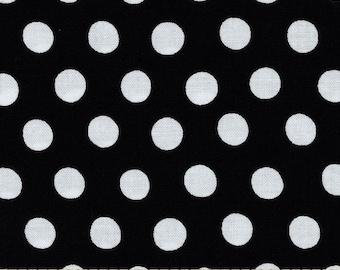 NEW Free Spirit Kaffe Fassett Spot Noir Black and White Polka Dots Fabric BTY 1 yd