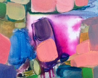 "Back At It - Original Abstract Acrylic Painting 10"" x 10"""