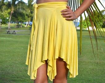 SUNNY ~ Handmade Wrap Skirt, Bikini Cover Up