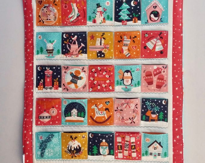 Featured listing image: Made to Order - Merry Little Christmas quilted Advent Calendar