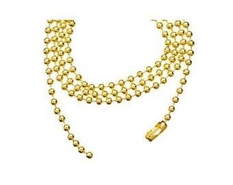 Ball chain / ball fine GOLD 60cm