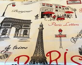 Fabric coupon Paris 70 x 50 cm