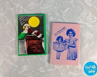 Vintage Shirley Temple Compact Mirror Set - Christmas Shirley Temple - Shirley and Doll - Mirror Gift Set