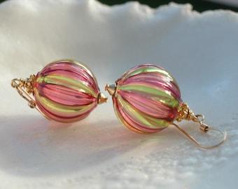 Murano Mini Blown Glass Earrings