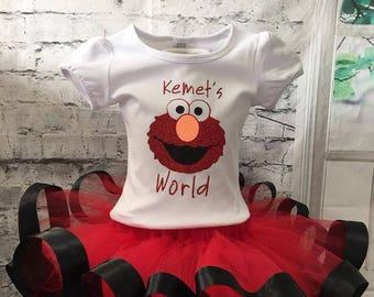 Elmo tutu, Elmo outfit, Elmo birthday tutu, Elmo shirt, Elmo birthday shirt, Elmo birthday tutu, Elmo outfit, Elmo birthday outfit