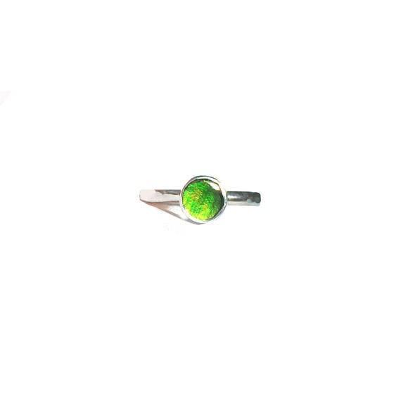 ammolite stacking ring, size 6 1/2