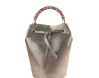 Leather Bucket Bag (Bronze)