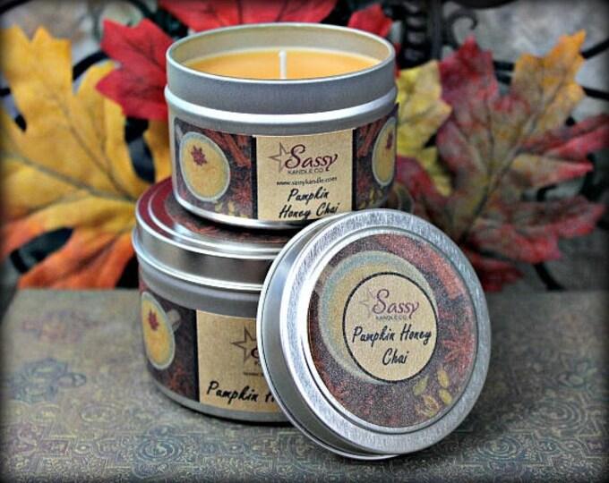 PUMPKIN HONEY CHAI   Candle Tin (4 or 8 oz)   Sassy Kandle Co.