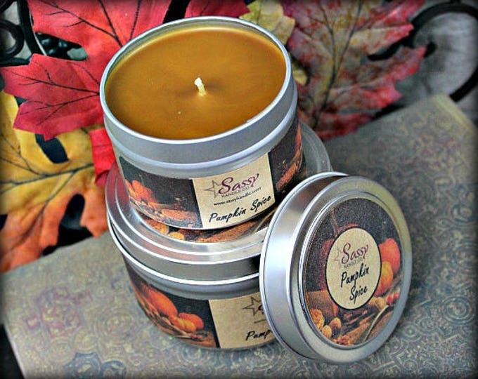 PUMPKIN SPICE | Candle Tin (4 or 8 oz) | Sassy Kandle Co.