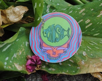 Weatherproof & Waterproof Grateful Dead Phish Steal Your Face Stickers // Vinyl Stealie Stickers // 3 inch Diameter