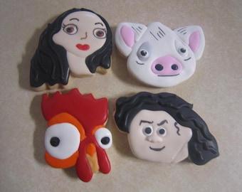 1 Dozen Moana Fan Art Hand Decorated Cookies