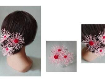 spade hair flower hair pin, fascinator, hair, hair fascinator, Haarnadeln stick pin