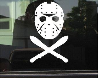 Jason Voorhees - Friday The 13th 7 Inch Vinyl Sticker