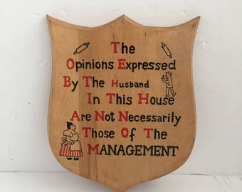 Funny Vintage Wood Wall Hanging Opinions of House