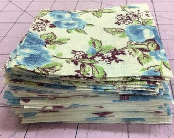 50 Feedsack 3 inch Quilt Squares