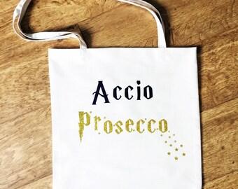 Harry Potter bag, Magical prosecco shopping bag, market bag, tote bag, cailco bag