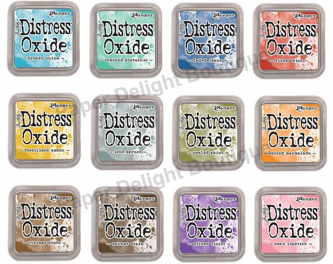FREE SHIPPING! Ranger Tim Holtz Distress Oxide Ink Pads - All 12 Colors