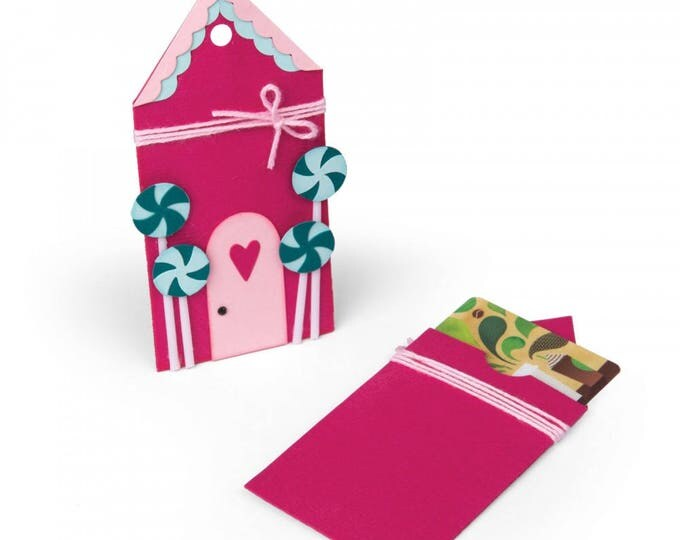 New! Sizzix Bigz Die - Gingerbread Gift Card Holder by Jen Long 662451
