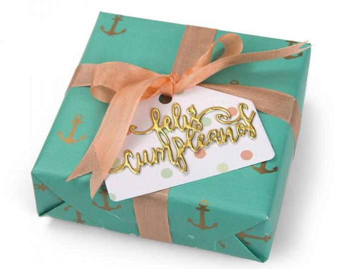 Sizzix Framelits Die Set 2PK w/Stamps - Feliz Cumpleaños (Happy Birthday) 662331