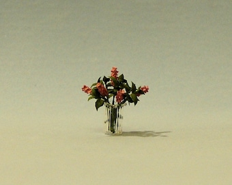 1/2 inch scale miniature-Lilacs in a Vase