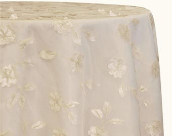 Tablecloths in Ivory Lily Petal - Lace tablecloths & overlays for weddings.