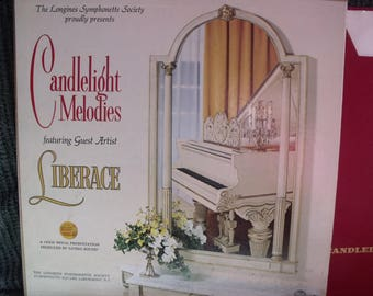Liberace CandleLight Melodies album 4 records from the 50's  10-14 songs on each record.