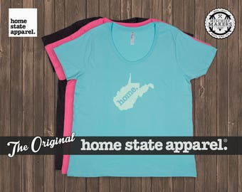West Virginia Home. T-shirt- Women's Curvy Fit