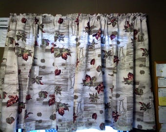 Curtains for fall/winter and holidays Vintage style