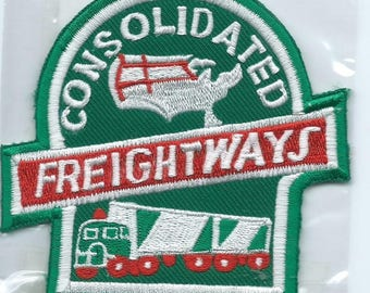 Consolidated Freightways (CF) truck driver patch 3-5/8 X 3-5/8